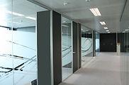 Tabique divisorio de cristal para oficina