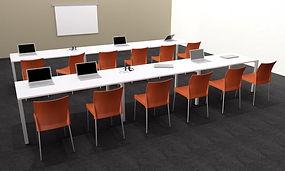 Mesa polivalente para aulas de formación