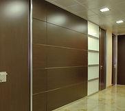 Tabique divisorio de madera para oficina