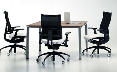 Mesa de reuniones cuadrada Teseo