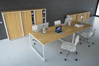 Mesas de oficina con pata cuadrada en Madrid
