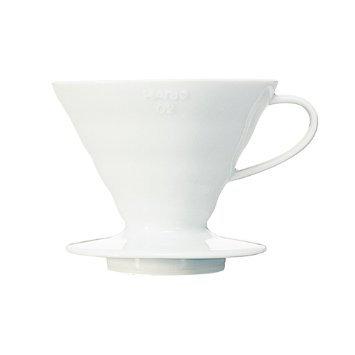 Hario V60 Ceramic Coffee Dripper: Size 2, White