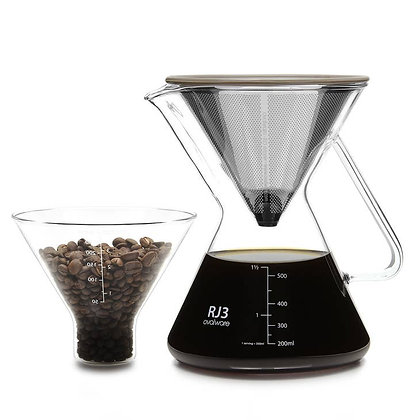 Ovalware RJ3 Pour Over Coffee Maker (with filter)
