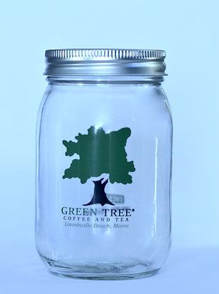 Green Tree Coffee Jar