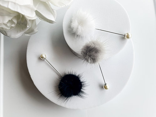 Pearls and Poufs cap pins