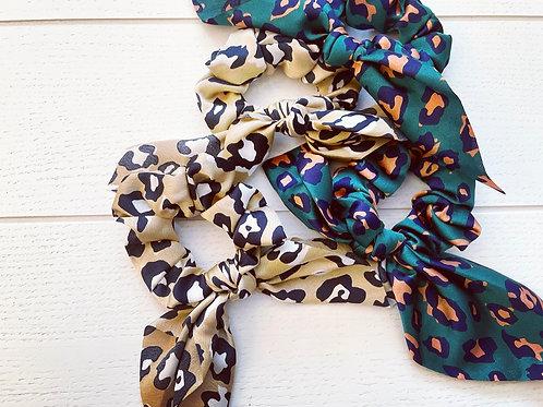 Lux Leopard Scrunchie