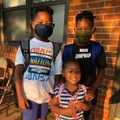 First Day of School for the Moss Family