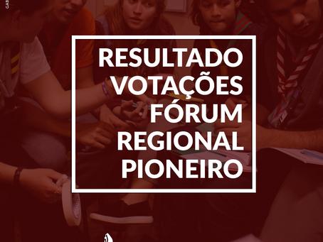 Votações do Fórum Regional Pioneiro 2017