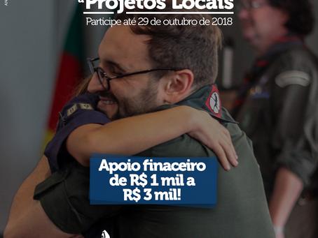 Apoio financeiro de até R$ 3 mil para projetos