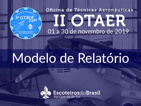 II Oficina de Técnicas Aeronáuticas | Relatório