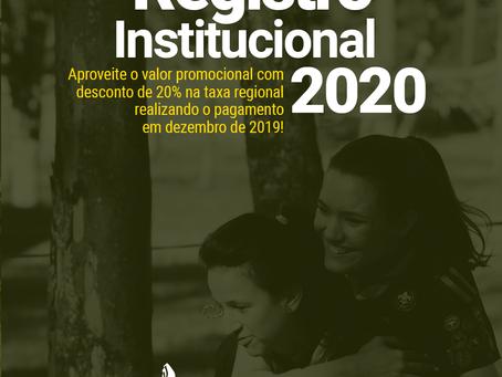 Registro Institucional 2020