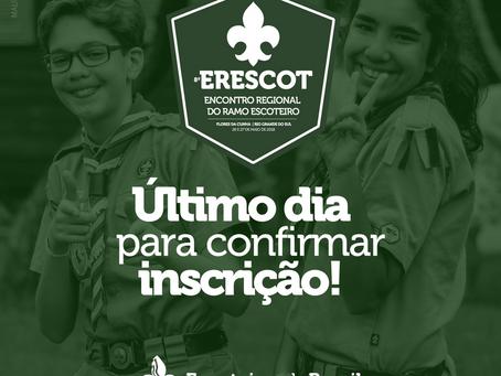 Último dia de Inscrição no ERESCOT