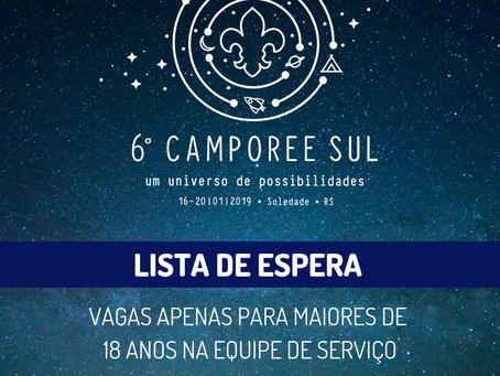 Lista de Espera do Camporee Sul