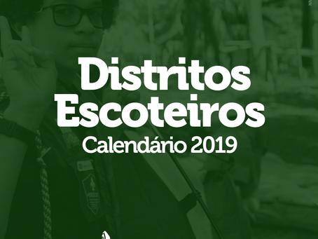 Calendários Distritais 2019