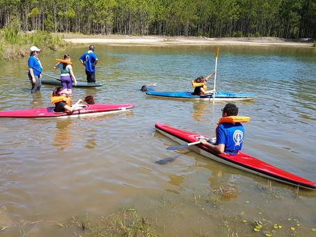 Atividade de Canoagem e Salvamento em Osório