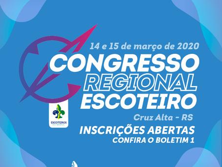 Congresso Regional 2020 | Boletim 1