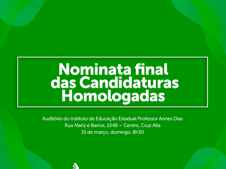 Assembleia Regional | Candidaturas Homologadas