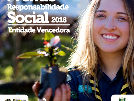 Escoteiros são vencedores do Prêmio de Responsabilidade Social