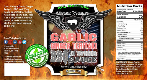 Garlic Ginger Teriyaki BBQ and Wing Sauce