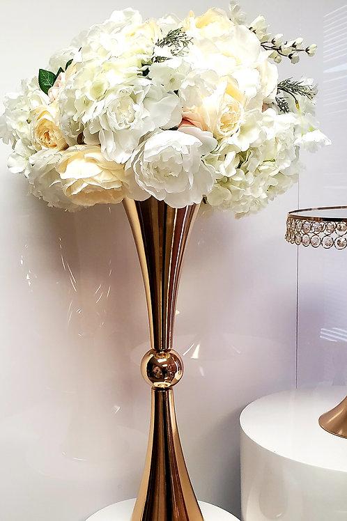 Reversible Gold trumpet vase 28in