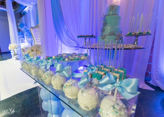 Sweet table at a baby shower