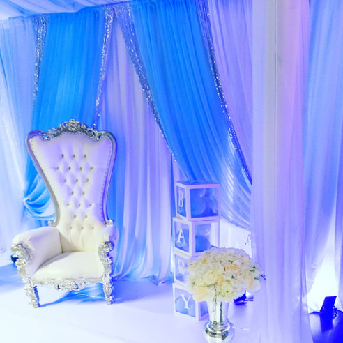 Canopy and decor for baby shower