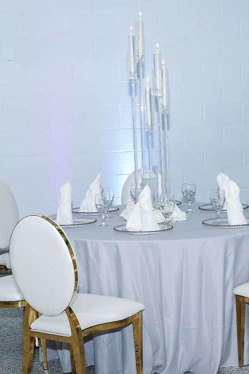 Clear Candelabras 5 arms