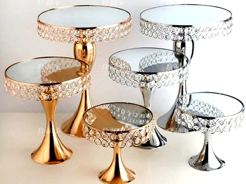 Crystal Cake or sweet table stands