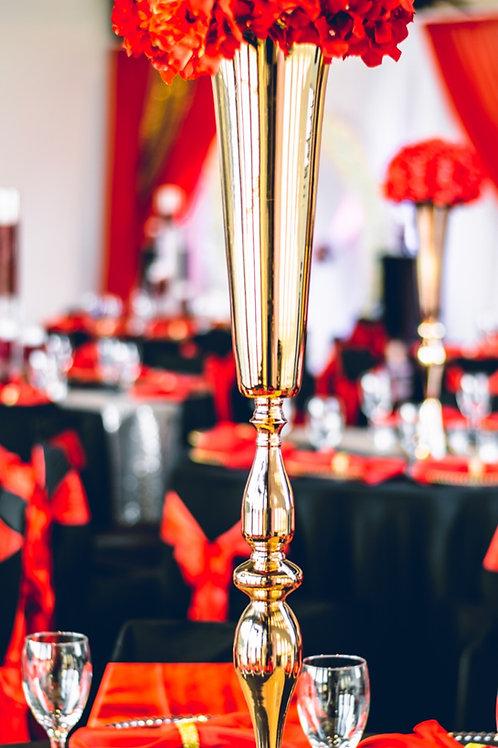 Gold or Silver Trumpet vase