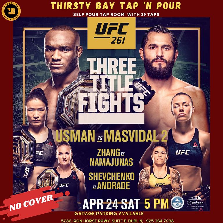 UFC 261   THREE TITLE FIGHTS.  USMAN VS MASVIDAL 2