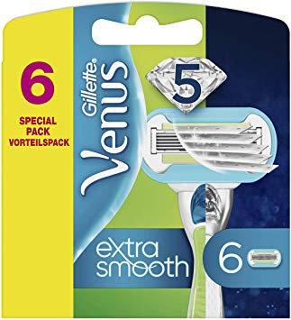 Klingen Gillette Venus extra smooth 6 Stück Rasierklingen