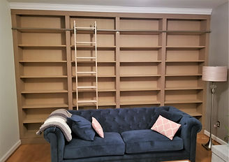 Living room cabinet ladder