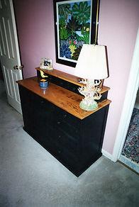 Dresser Black Aniline Dye Maple with Wor