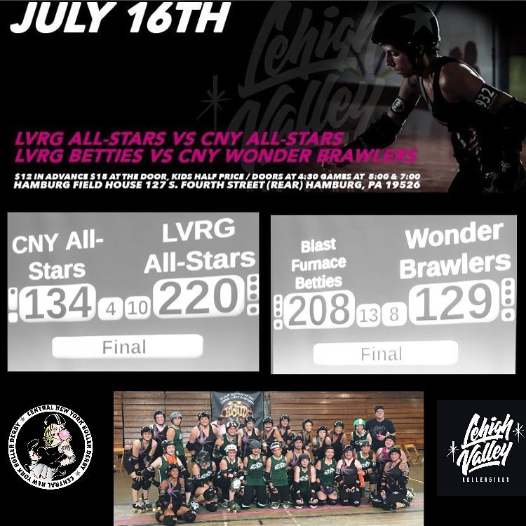 Lehigh Valley Rollergirls July 16th Bout
