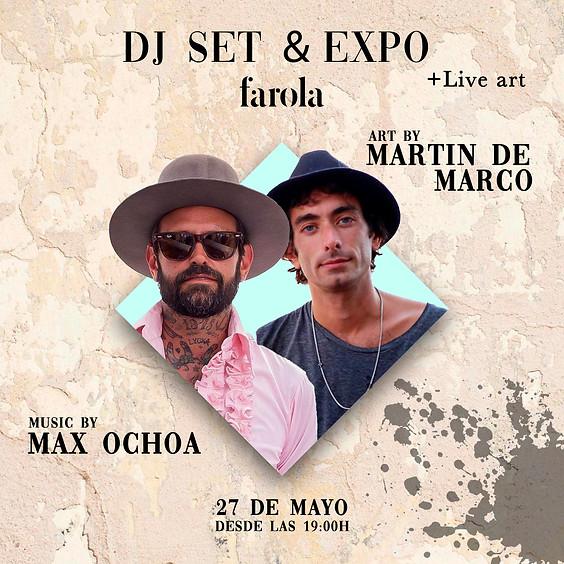 Dj set by Max Ochoa & Expo/Live painting