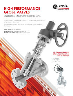 high performance globe valves | xanik