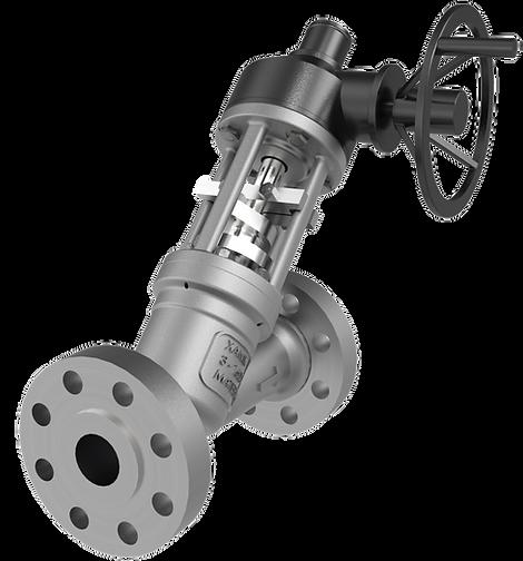 xanik | pressure seal globe y-pattern valve