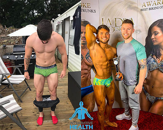 Before and after training photos of Kevin Cooke