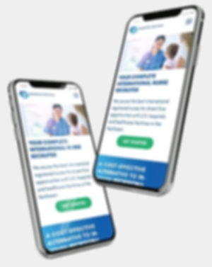 Webdesign on mobile phone for GlobalCare Services