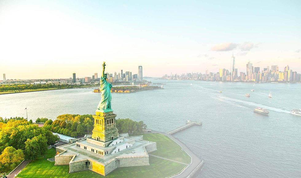 New York Harbor and the Statue of Liberty