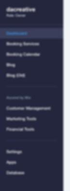 Wix Website Dashboard Settings Screen sho