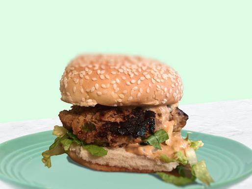 Turkey Burgers and BBQ Sauce