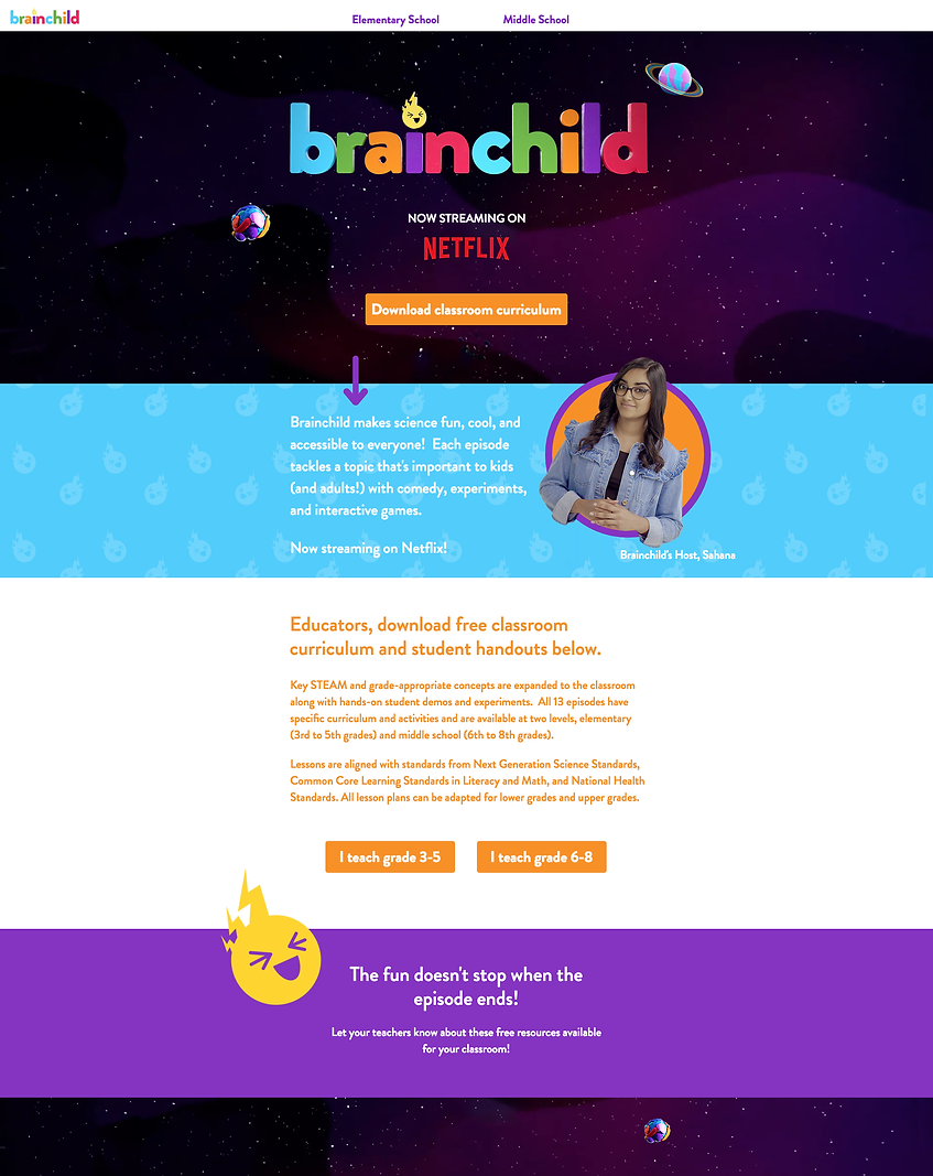 Brainchild Website Homepage