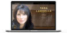 Tara Langell Voiceover Web design on Laptop