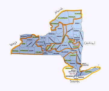 Family First NY Map of New York State