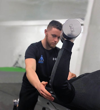 Luke O Mahony in a personal training session