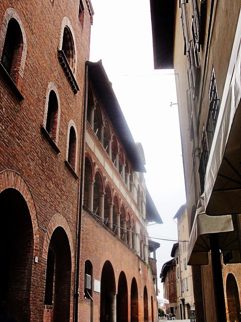 A street in Pavia, Italy