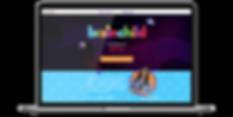 Braingames webdesign shown on a laptop