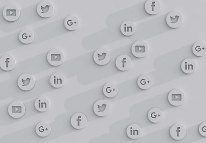 Social Media Blur BW Icons on White Wall