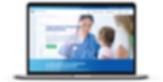 Webdesign for GlobalCare Services on a laptop